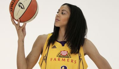 CANDACE PARKER - BASKETBALLLos Angeles Sparks' Candace Parker during the WNBA basketball team's media day in Inglewood, Calif., Monday, May 10, 2010. (AP Photo/Jae C. Hong)