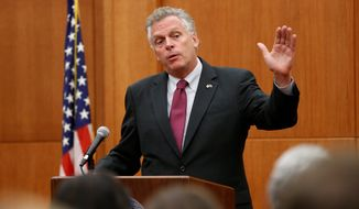 Virginia Gov. Terry McAuliffe. (Associated Press)
