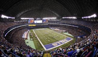 "FILE - In this Oct. 30, 2011, file photo, the Washington Redskins and the Buffalo Bills play an NFL football game at the Rogers Centre in Toronto. The Buffalo Bills are done playing regular season ""home"" games in Toronto after reaching an agreement with Canadian-based communications giant Rogers Communications to terminate the four remaining years left on the series. Bills president Russ Brandon announced the decision Wednesday, Dec. 3, 2014, in what was not regarded as a surprise. (AP Photo/Derek Gee, File)"