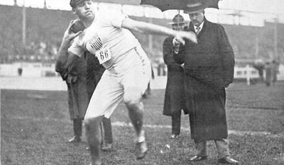 "Shot putter Ralph Rose carried the U.S. flag during the opening ceremony of the 1908 Olympics in London but refused to dip the flag, a customary gesture of respect, before British King Edward VII in the royal box. Legend has it that Irish-American team captain Martin Sheridan supported the decision, explaining, ""This flag dips to no earthly king."""