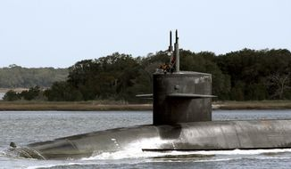 The Ohio-class ballistic missile submarine USS Wyoming. (U.S. Strategic Command)