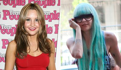 AMANDA BYNES - the former Nickelodeon star spent six months in rehab in 2013 following an involuntary psychiatric hold after a stretch of erratic behavior. The following year, the actress had been arrested for her second DUI and was placed on another psychiatric hold after accusing her father of sexual abuse on Twitter.