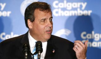 New Jersey Gov. Chris Christie speaks at the Energy Sector Luncheon in Calgary, Alberta on Thursday, Dec. 4, 2014. (AP Photo/The Canadian Press, Larry MacDougal) **FILE**