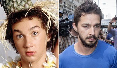 SHIA LABEOUF - the former Even Stevens star was arrested lin 2014 and charged with harassment, disorderly conduct, and criminal trespassing after disrupting a performance of Cabaret on Broadway.