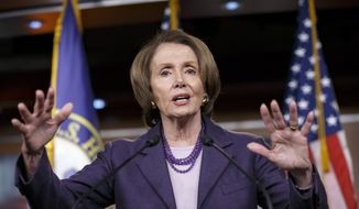 House Minority Leader Nancy Pelosi called the bill an insult to her constituents, and while she said her Democratic colleagues were free to vote however they wanted, she would oppose it and urged them to do the same. (Associated Press)