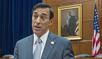 "Rep. Darrell Issa will hear Obamacare architect Jonathan Gruber explain away his ""stupid voters"" comment. (Associated Press)"