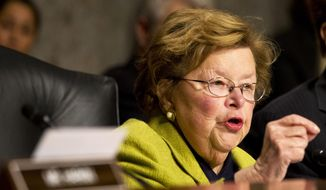 Senate Appropriations Committee Chair Sen. Barbara Mikulski, D-Md., speaks on Capitol Hill in Washington in this Nov. 12, 2014, file photo. (AP Photo/Jacquelyn Martin, File)