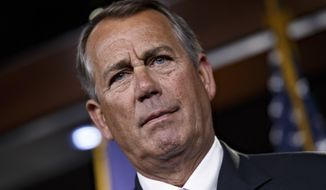 The dilemma that John Boehner, the speaker of the House, faces is that conservatives in the House want to include measures to thwart President Obama's immigration amnesty. (AP Photo/J. Scott Applewhite)