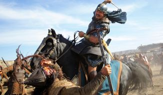 """This image released by 20th Century Fox shows Christian Bale in a scene from """"Exodus: Gods and Kings.""""  (AP Photo/20th Century Fox, Kerry Brown)"""