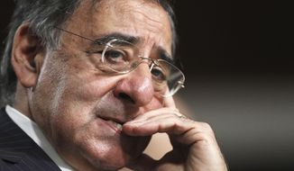 Then-CIA Director nominee Leon Panetta  testifies on Capitol Hill in Washington in this June 9, 2011, file photo. (AP Photo/Manuel Balce Ceneta, File)