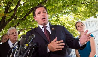 "Rep. Ron DeSantis, Florida Republican, is among those members of Congress who received a ""100 percent"" rating in his voting record for supporting conservative legislation.  (Associated Press)"
