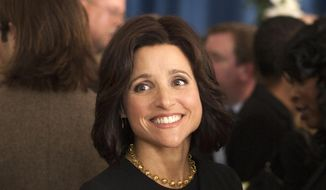 """In this image released by HBO, Julia Louis-Dreyfus appears in a scene from """"Veep."""" (AP Photo/HBO, Paul Schiraldi)"""