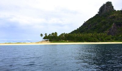 "Castaway Island in Fiji, the setting for the 2000 film ""Castaway"" film starring Tom Hanks"
