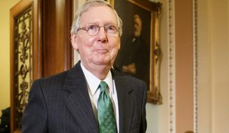 Incoming Senate Majority Leader Mitch McConnell, Kentucky Republican, says approving the Keystone XL pipeline will top the Senate agenda in January. Congressional Republicans have been pushing for approval of the pipeline for years. President Obama has resisted because of environmental concerns. (Associated Press Photographs)