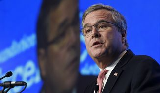 """On Tuesday, Dec. 16, 2014, former Florida Gov. Jeb Bush took his most definitive step yet toward running for president, announcing plans to """"actively explore"""" a campaign and form a new political operation allowing him to raise money for like-minded Republicans. (AP Photo/Susan Walsh, File)"""
