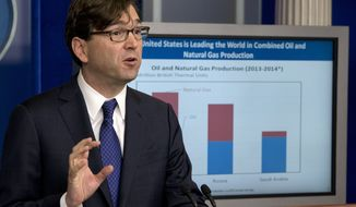 Council of Economic Advisers Chairman Jason Furman speaks about the economy during the White House daily news briefing at the White House in Washington, Tuesday, Dec. 16, 2014. (Associated Press) **FILE**