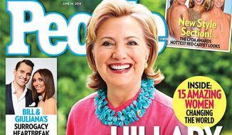 People magazine's worst-selling issue of 2014 had Hillary Clinton on the front cover, AdWeek has revealed. (People)