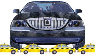 Uber Service Superior to Taxis Illustration by Greg Groesch/The Washington Times