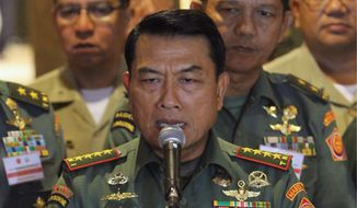 Indonesian Armed Forces Chief Gen. Moeldoko said that the threat now presents an opportunity for the U.S.-Indonesian military relationship to expand (Associated Press)