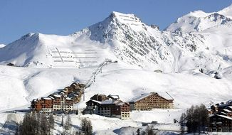 This Jan. 18, 2003, file photo shows the Belle Plagne ski resort (2,050 meters) in the Savoie region, French Alps. (AP Photo/Patrick Gardin, File)