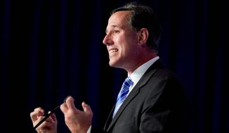 "Former GOP presidential contender Sen. Rick Santorum said, ""We are putting the pieces together, just trying to build the model and see if it takes off. We are trying to raise money, and we put a good team together in Iowa and South Carolina already, and we are working on one in New Hampshire."" (Associated Press)"