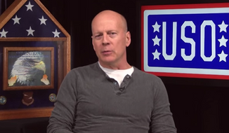Bruce Willis posted a video message on the United Service Organizations' website Thursday, reminding Americans to appreciate the military members spending this holiday season overseas. (YouTube/USO4Troops)