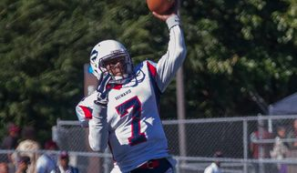 Howard quarterback Greg McGhee, shown passing in a game earlier this season, is hoping to become the first quarterback drafted by an NFL team in nine years. (Courtesy of David Sierra/Howard University Athletics)
