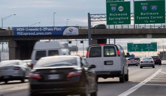 The I-95 Express Lanes are opening in Northern Virginia, allowing motorists with an E-ZPass to bypass heavy traffic and pay appropriate tolls depending on the time of day and congestion volume during their journeys. (Associated Press)