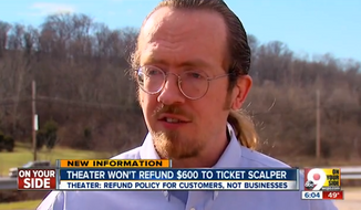 "Jason Best, of Cincinnati, is demanding a refund after he snatched up $650 worth of tickets to the movie ""The Interview"" when it was still slated for a limited theatrical release. (WCPO)"