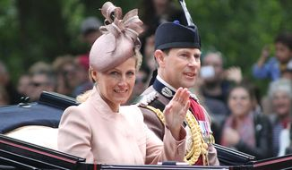 The Earl and Countess of Wessex at Trooping the Colour in June 2013. (Wikipedia)