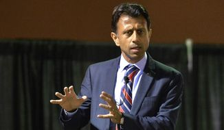 Louisiana Gov. Bobby Jindal speaks in Louisville, Ky., in this Oct. 29, 2014, file photo. (AP Photo/Timothy D. Easley, File)