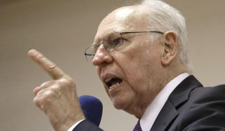 Rafael Cruz, father of Sen. Ted Cruz, R-Texas, speaks in Madisonville, Texas in this Jan. 10, 2014, file photo. (AP Photo/Pat Sullivan, File)