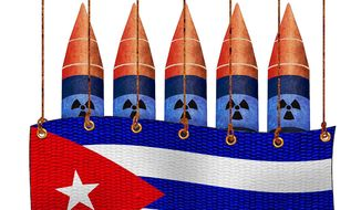 Cuba Diversion from Iran Nukes Illustration by Greg Groesch/The Washington Times