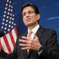 Former House Majority Leader Eric Cantor (Associated Press) **FILE**