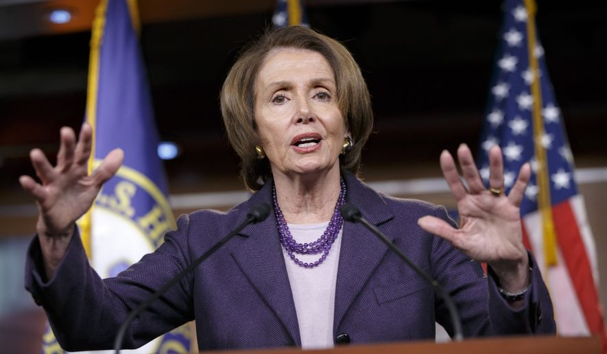 "House Minority Leader Nancy Pelosi, California Democrat and staunch defender of the health care law, is firmly opposed to the measure. ""This will be the 54th time the GOP votes to repeal or undermine the Affordable Care Act, and Leader Pelosi is against the bill,"" spokesman George Evangeline said. (Associated Press)"