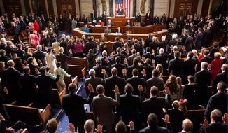 House Speaker John A. Boehner of Ohio administered the oath of office to newly elected members of the 114th Congress, as Republicans assumed control of both chambers for the first time in eight years. Mr. Boehner began his third term as speaker. (Associated Press)