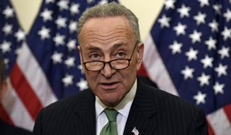 Sen. Charles Schumer, D-N.Y., speaks during a news conference on Capitol Hill in Washington, Wednesday, Jan. 7, 2015. (AP Photo/Susan Walsh)