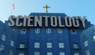 Church of Scientology building at Fountain Avenue and L. Ron Hubbard Way, Los Angeles, California. (Wikipedia)