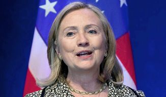 Former Secretary of State Hillary Clinton. (Associated Press)