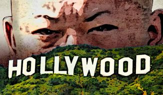 Korea Cyber Attack on Hollywood Illustration by Greg Groesch/The Washington Times