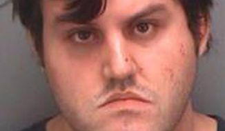 This image provided by the Pinellas County Jail shows a booking photo of John Nicholas Jonchuck Jr. The 25 year-old faces a first-degree murder charge after throwing his 5-year-old daughter off a bridge on the approach to the Sunshine Skyway early Thursday morning Jan. 8, 2015. (AP Photo/Pinellas County Jail)