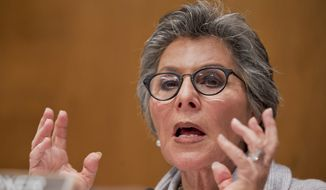 FILE - In this Dec. 3, 2014 file photo, Sen. Barbara Boxer, D-Calif. speaks on Capitol Hill in Washington. Boxer said Thursday she won't seek re-election after 4th term. (AP Photo/Manuel Balce Ceneta, File)