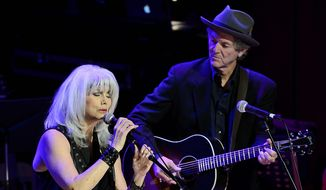 Emmylou Harris, a 13-time grammar winner, brought about a unique country-rock-bluegrass blend that made her unique. (AP Photo/Mark Zaleski)