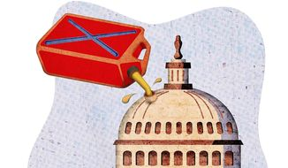 Gasoline Capitol Dome Illustration by Greg Groesch/The Washington Times