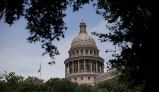 In This July 30, 2013, file photo, the dome of the Texas State Capital is seen through trees on the final day a special session, in Austin, Texas. (AP Photo/Eric Gay, File)