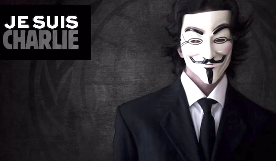 Hackers claiming to be with the group Anonymous have taken credit for hacking a French jihadi website in retaliation for the terror attack on the Paris-based Charlie Hebdo magazine. (YouTube) ** FILE **