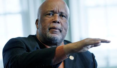 Rep. Bennie Thompson, Mississippi Democrat, reminded the GOP that funding the Department of Homeland Security is crucial in the wake of last week's Paris shootings.  (Associated Press)