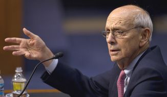 """Well, my goodness. ... It does sound as if the town is being a little unreasonable, doesn't it?"" Supreme Court Justice Stephen G. Breyer said after several justices began discussing the Good News Community Church's sign announcing it would hold 9 a.m. services in an elementary school. (Associated Press)"