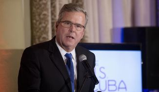 Former Florida Gov. Jeb Bush speaks in Coral Gables, Fla., in this Dec. 2, 2014, file photo. (AP Photo/J Pat Carter, File)