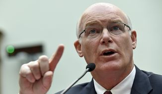 Acting Secret Service Director Joseph Clancy testifies on Capitol Hill in Washington in this Nov. 19, 2014, file photo. (AP Photo/Susan Walsh, File)